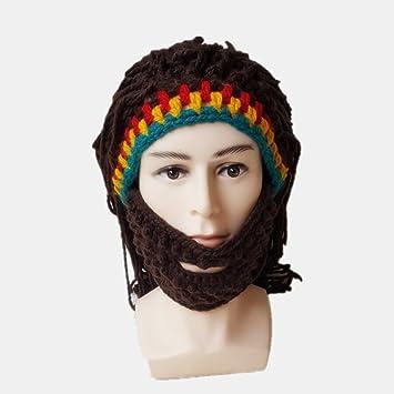 Gorra De La Peluca Cómodo Saludable Bigote Coloreado Creatividad Paja Sombrero Loco Adulto Masculino Y Femenino
