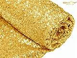 Gold Sequin Aisles Foor Runner-4'X40' Wedding Carpet Aisle Runner, Choose Your Sizes (4FTX40FT)