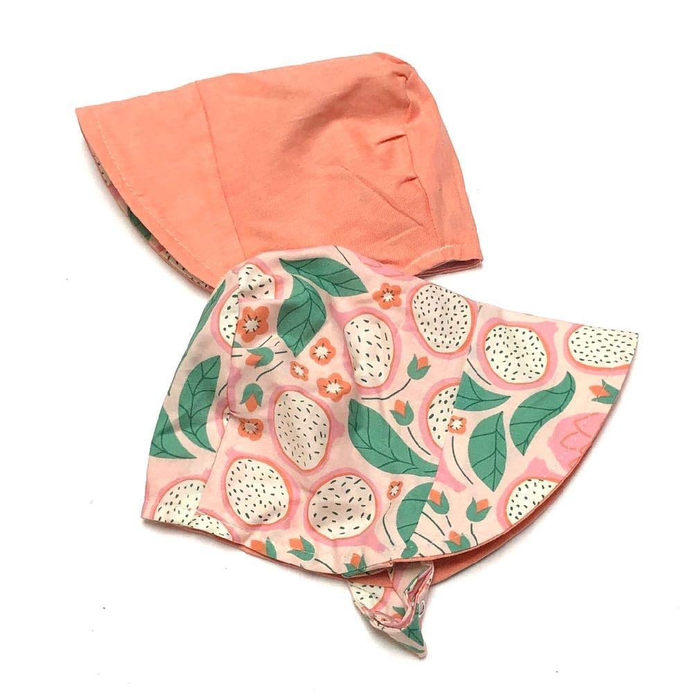 EcoBonnet in Organic Passion XS (16-17.25in, 3-6m) Pink by UB2 Urban Baby Bonnets