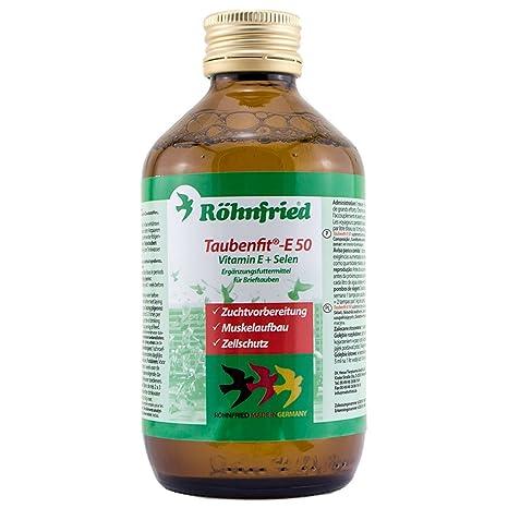 ROHNFRIED Taubenfit E 50 + Selenio (vitamina E concentrada). Para Palomas y pájaros