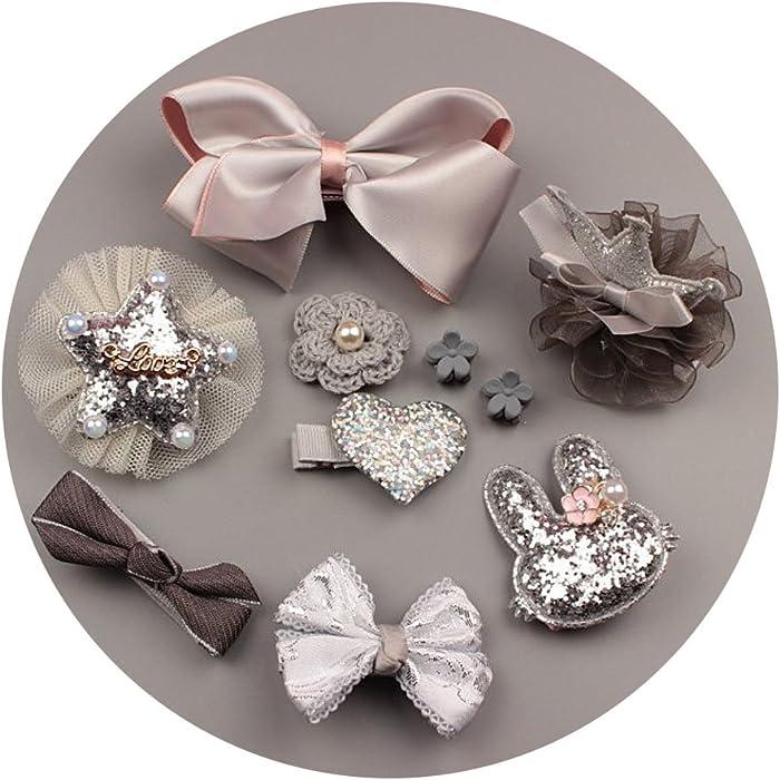 Crown Flower Hair Accessories Girl Star Moon Duckbill Headdress Clip For Kids Birthday Gift Box Set