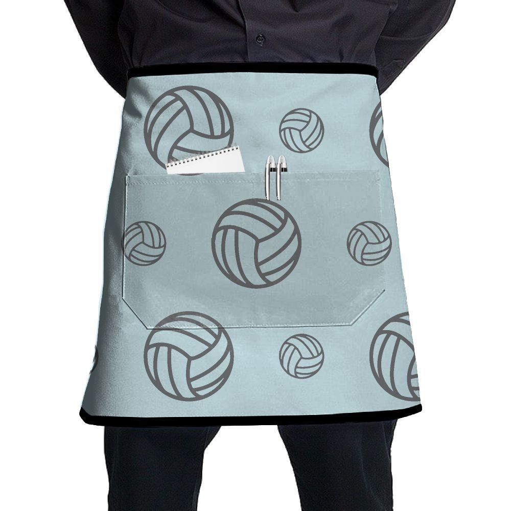Volleyball Racing Game Adjustable Apron With Pocket For Kitchen Garden Cooking Grilling Women's Men's Great Gift For Wife Ladies Men Boyfriend