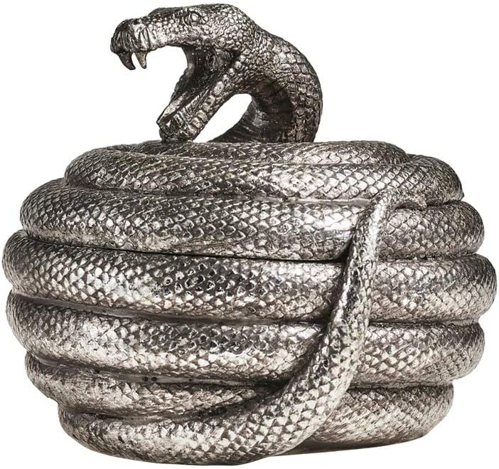 Alchemy Serpent's/Snakes Hoard - Trinket Box/Pot - Ancient Snake Design Storage Box/Trinket Tray