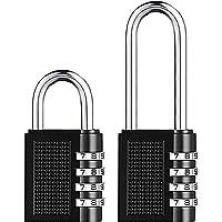 Gsrhzd Candado de combinación, candado de combinación de 4 dígitos, 2 candados metálicos de combinación de seguridad…