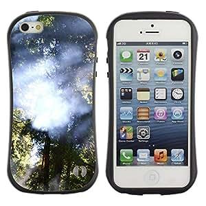"Hypernova Slim Fit Dual Barniz Protector Caso Case Funda Para Apple iPhone SE / iPhone 5 / iPhone 5S [Planta Naturaleza Forrest Flor 28""]"