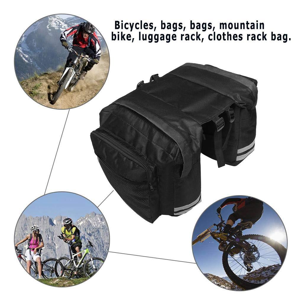 JUNERAIN Bolso de la alforja del Bolso del Tronco del Asiento de la Cola del Estante Posterior de la Bicicleta de la Bici de la monta/ña Doble