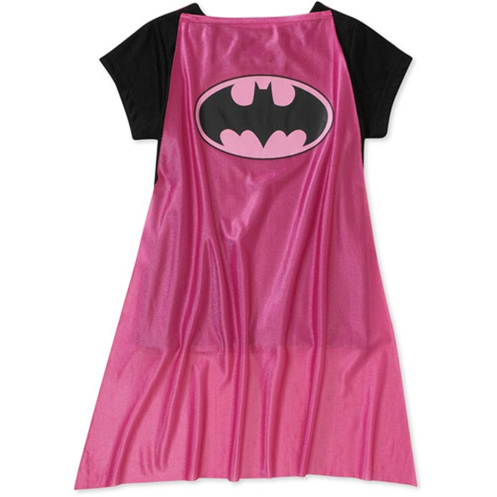DC Comics Little Girls Pink Batgirl Pajamas with Cape S//6-6X