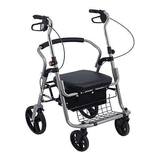 JJZXPJ Drive Plegable Walker, Andador De Altura Ajustable Asas ...