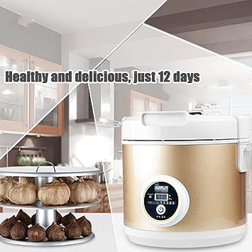 Fermentador de Ajo Negro Máquina eléctrica de fermentación de ajo negro DIY para hogar Caja de fermentación ajo negro automático (5L): Amazon.es: Hogar