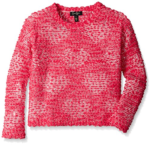 UPC 787165863687, Jessica Simpson Big Girls' Snow Heart Graphic Sweater, Admiral Red, Small