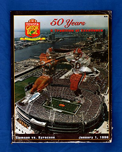 Toyota Gator Bowl Game Program, 1996 / Syracuse University vs. Clemson. Marvin Harrison, Donovan McNabb, Kevin Abrams, Olindo Mare, Keith Bullock, Donovin Darius - Syracuse Bowl Games