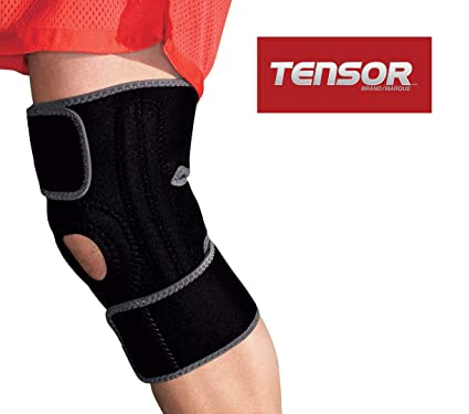 881a569cf6 TensorTM Adjustable Knee Support Brace with Dual Side Stabilizers for Men &  Women, One-
