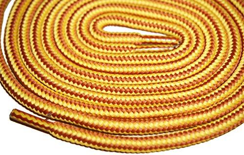 Shoeslulu 35-46 Premium Round Robuste Scarpe Da Trekking Scarpe Da Ginnastica Lacci Giallo Dorato / Marrone Britannico