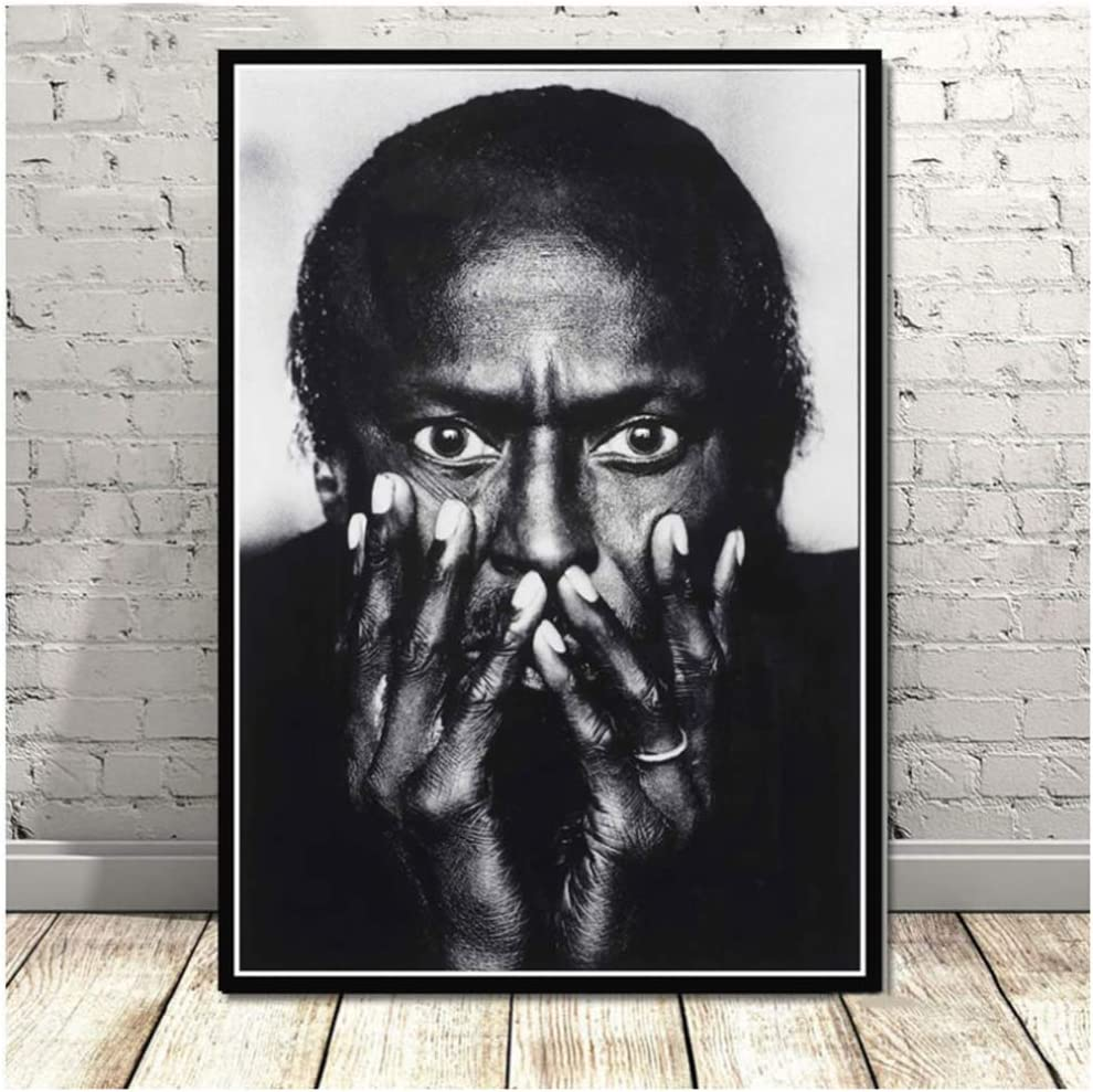 NRRTBWDHL Miles Davis Blue Jazz Musik Album Popstar Poster Wandkunst /Ölgem/älde Leinwand Wandbilder F/ür Wohnzimmer Wohnkultur-50x70 cm Kein Rahmen