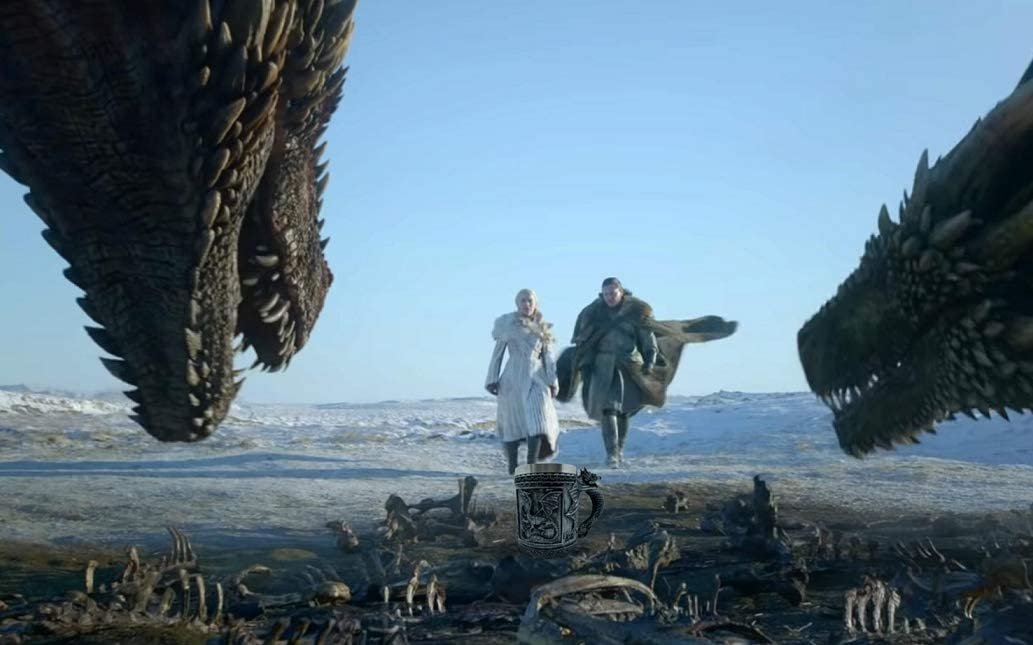 Coffret cadeau Daenerys Targaryen Got Dragon sous-verre et sac Verre /à vin Chope Mother of Dragons Game of Thrones