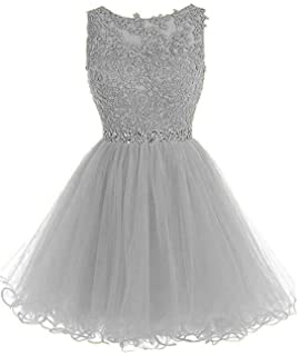 d86f37c244db Chugu Short Prom Party Dress Homecoming Dresses for Women Teens A Line  Tulle Beaded C6
