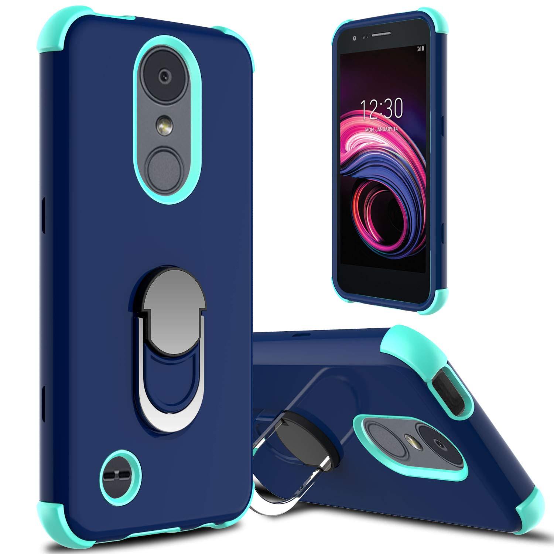 LG Aristo 3 Case, LG Aristo 2/Aristo 2 Plus/LG Tribute Empire Case, lovpec Ring Magnetic Holder Kickstand Phone Case for LG Rebel 4 LTE/LG Phoenix 4/LG Tribute Dynasty/Zone 4/Fortune 2/Risio 3 (Navy)