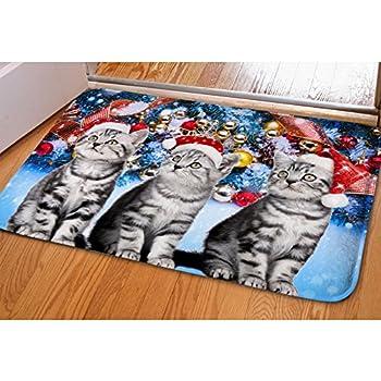 Amazon Com Hugs Idea Cute Kitty Cats Doormat Non Slip