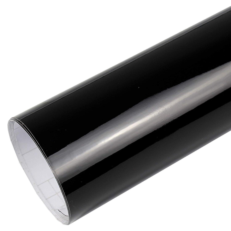 Rapid Teck® AutoFolie Serie 560MG Glanz schwarz 3m x 1, 52m Premium Car Wrapping Folie mit Luftkanal Rapid Teck®