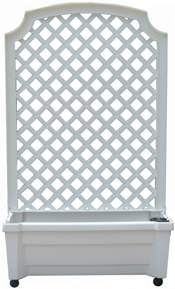 Exaco 1.416W Calypso Planter with Trellis and Self Watering System