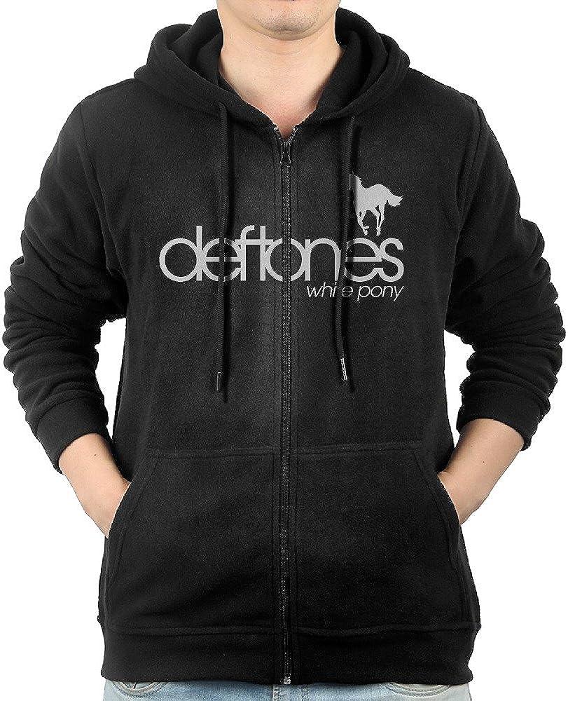 Fashion Deftones Flag Zip-Up Hoodie Jackets Kangaroo Pocket for Men