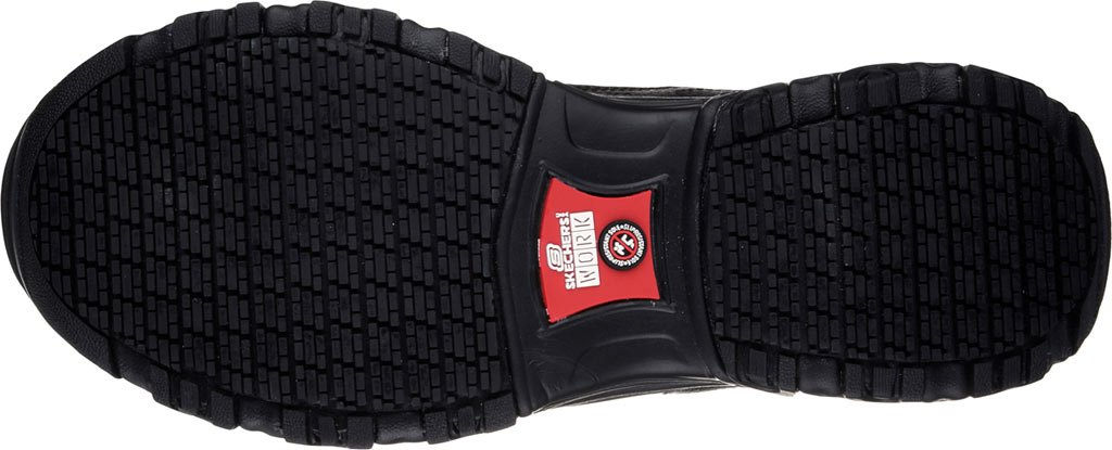 Skechers for Work Women's D'Lites Slip-Resistant W Marbleton Shoe B01N17JB7Q 11 W Slip-Resistant US|Black Embossed Leather/Trim fc4088