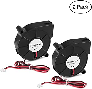 AiTrip 2Pcs 12V DC Brushless Blower Cooling Fan 50x50x15mm Fans for Computer Fan Humidifier Aromatherapy and Other Small Appliances Series Repair Replacement
