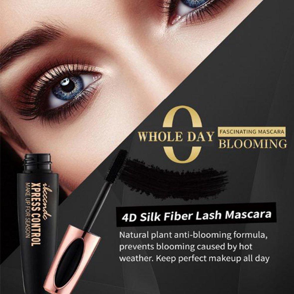 7a63e089805 ROMANTIC BEAR Magic 4D Silk Fiber Lash Mascara Waterproof Extension Thick  Curling Lengthening Eye Lashes Black (Black): Amazon.co.uk: Beauty
