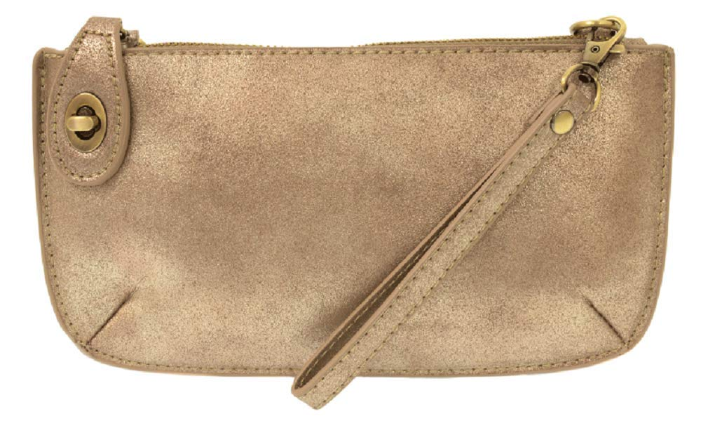 Mini Crossbody Wristlet Clutch (Rose Gold Lustre Lux) by Joy Susan