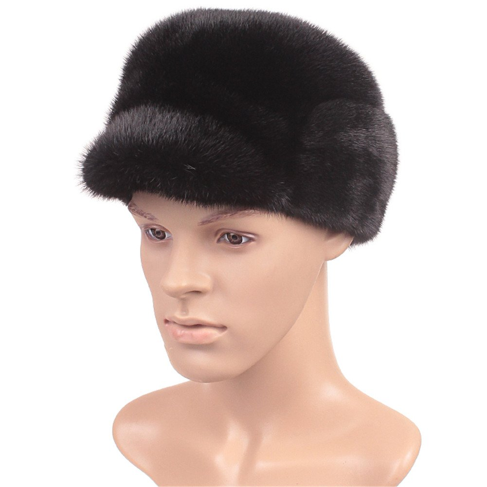 Roniky Men's Whole Set Sheared Mink Russian Cossack Hat