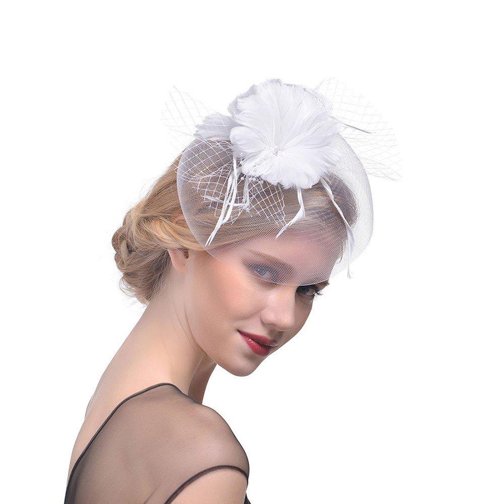 Womens Hair Accessories Fascinator Hair Band Headdress Cocktail Hairclips Party Headpiece