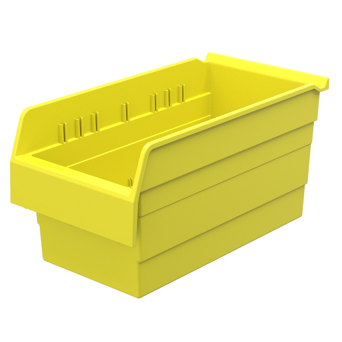 Akro-Mils 30886 ShelfMax 8 Plastic Nesting Shelf Bin Box, 16-Inch x 8-Inch x 8-Inch, Yellow, 8-Pack
