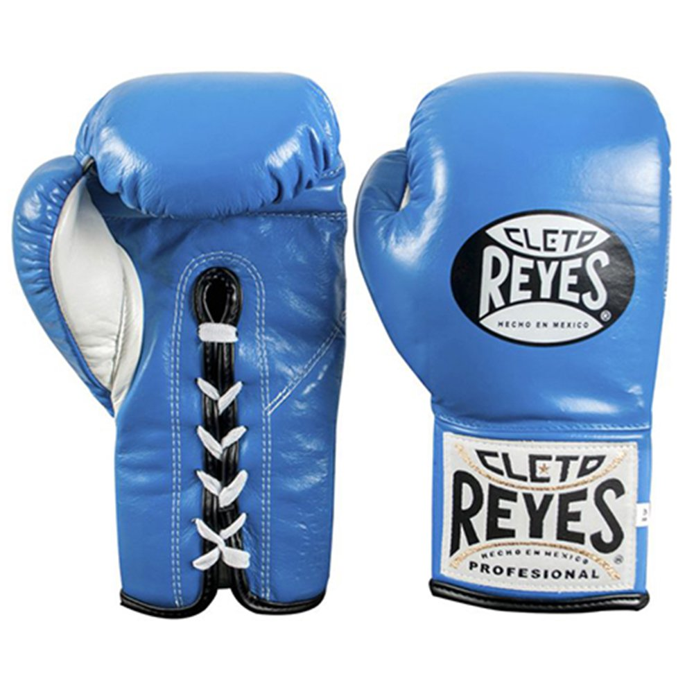 Cleto Reyes プロフェッショナル ファイトグローブ - 公式/Safetec B075M7Y8WM Blue (Official) 8-Ounce