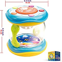 Tambor Bongo Unisex Niña Niño 9 Meses - Regalo 1 Año El Instrumento Musical Educativo Bebés Canciones Cuna Infantiles Lullaby Bebe - Baby Plan Toys Drum