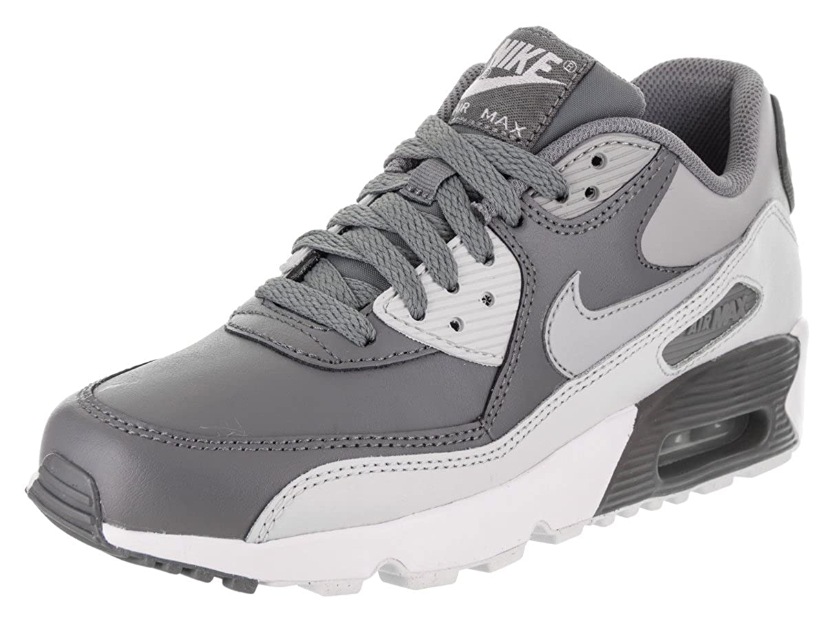 NIKE Big Kids Air Max 90 Leather Running Shoes 833412-001