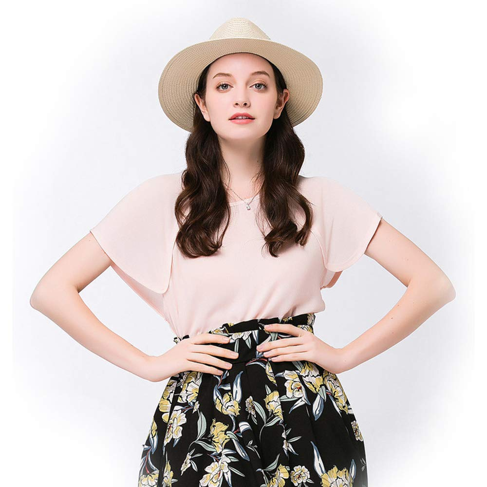 SHENTIANWEI 2018 New Cowboy Sun hat for Women with Colour Twine Summer Beach hat Cap