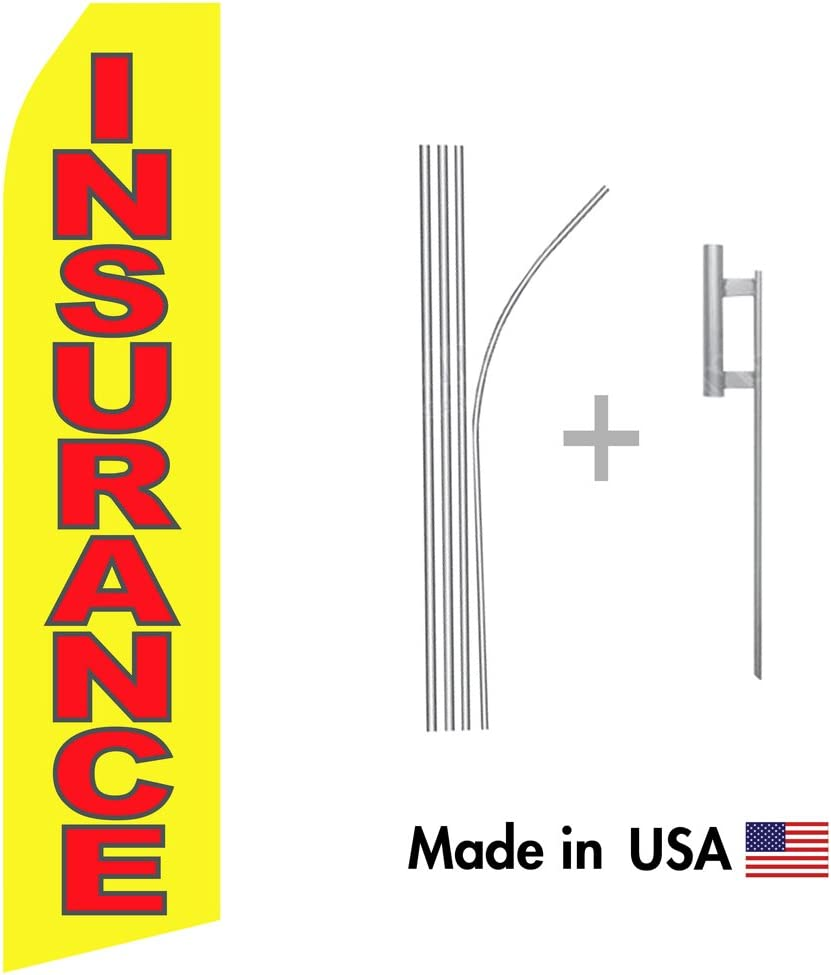 Heavy Duty 16ft Aluminum Advertising Swooper Pole with 30 Ground Spike Set Wholesale 3 Pack