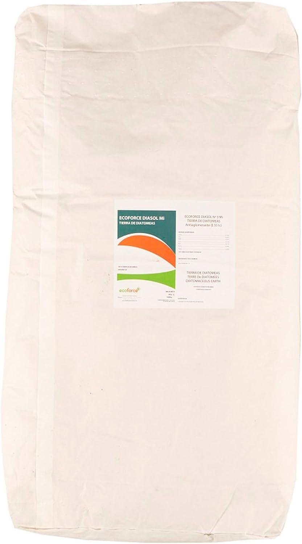 CULTIVERS Tierra de Diatomeas Micronizada de 20 kg. 100% Natural y Ecológico. No calcinada de alta pureza, sin tratamientos ni residuos, sin tratamientos ni residuos. Grado alimenticio E55IC