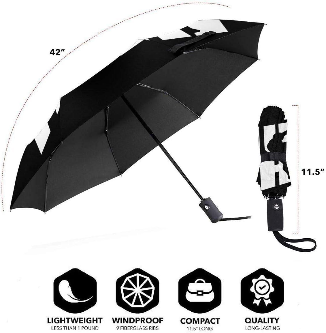 Muay Thai Automatic Tri-Fold Umbrella Parasol Sun Umbrella Sunshade