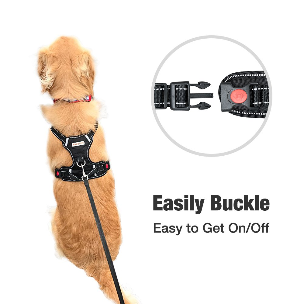 Big Dog Harness No Pull Adjustable Pet Reflective Oxford Soft Vest for Large Dogs Easy Control Harness by Babyltrl (Image #5)