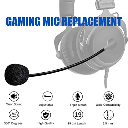 Turtle Beach Mic Replacement - AMYYMA 3.5mm Detachable Game Microphone on