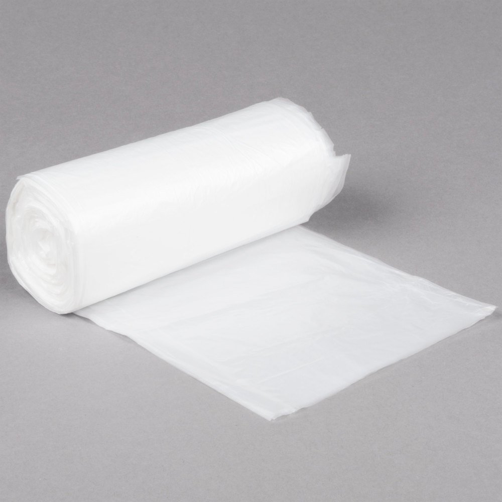 Inteplast Group S242408N 7-10 Gallon 8 Micron 24'' x 24'' High Density Can Liner / Trash Bag - 1000/Case