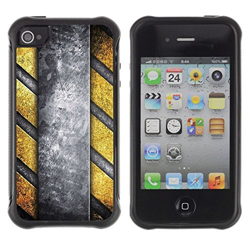 iPhone 4 / iPhone 4S , Interior Design Structure Yellow Grey Art Wall