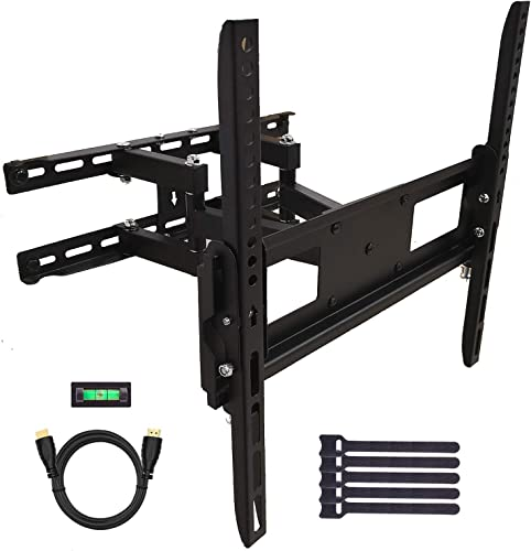FORGING MOUNT TV Wall Mount Bracket Full Motion Dual Articulating Arms for Most 26-55 inch LED,LCD,OLED Flat Curved TVs up to 88LBS MAX VESA 400X400mm-14 Extension Tilt,Swivel,Rotating-FM9381-B