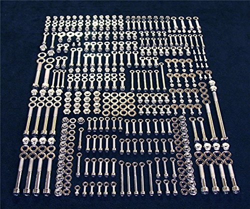 (NBX- For compatible with YAMAHA BANSHEE 632 PIECE POLISHED STAINLESS STEEL BOLT KIT ATV YFZ350 YFZ 350)