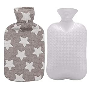 Fashy Hot Water Bottle with Cover (Star Brown)