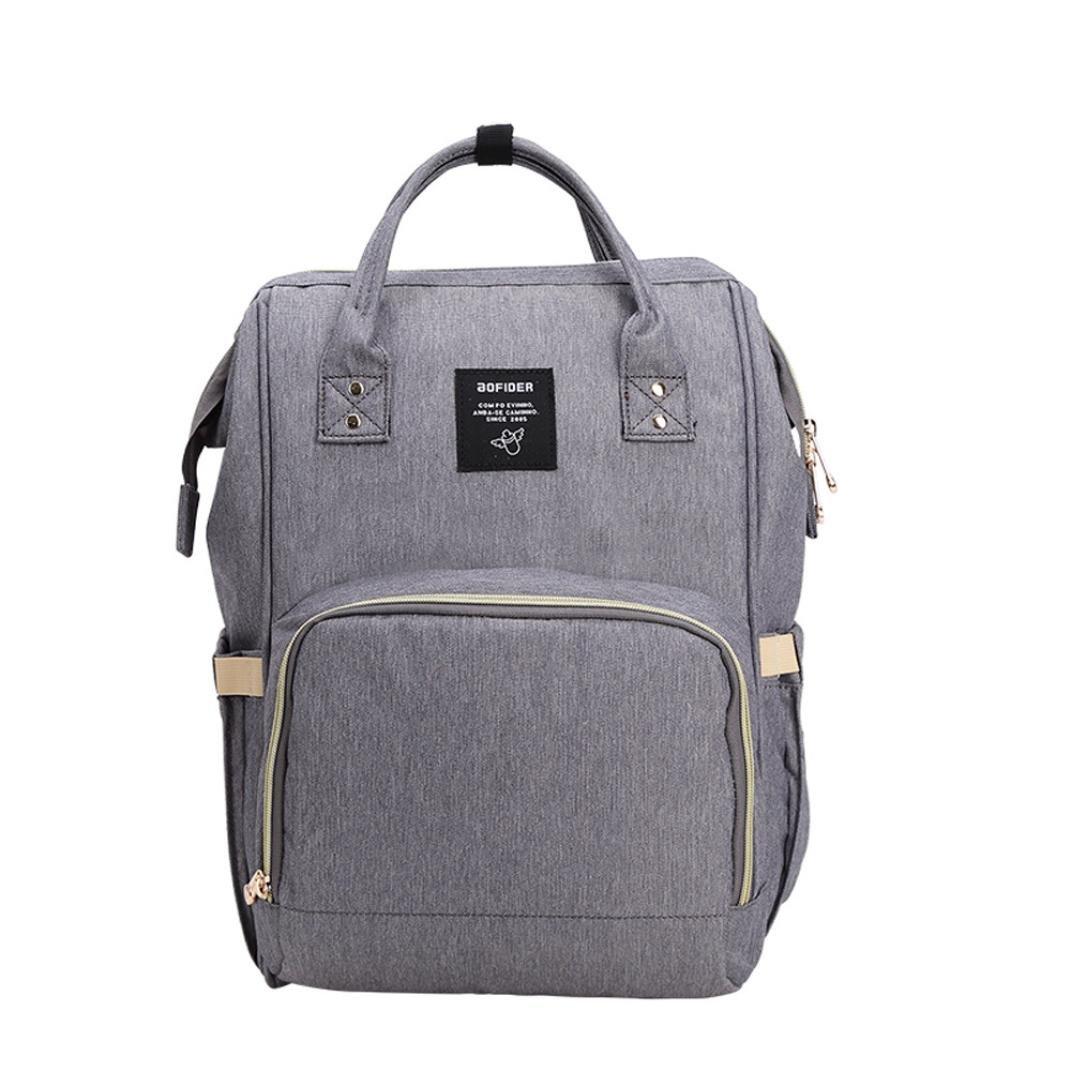 Respctful Waterproof Travelling Simple Style Backpack Diaper Bags for Women (Dark Gray)