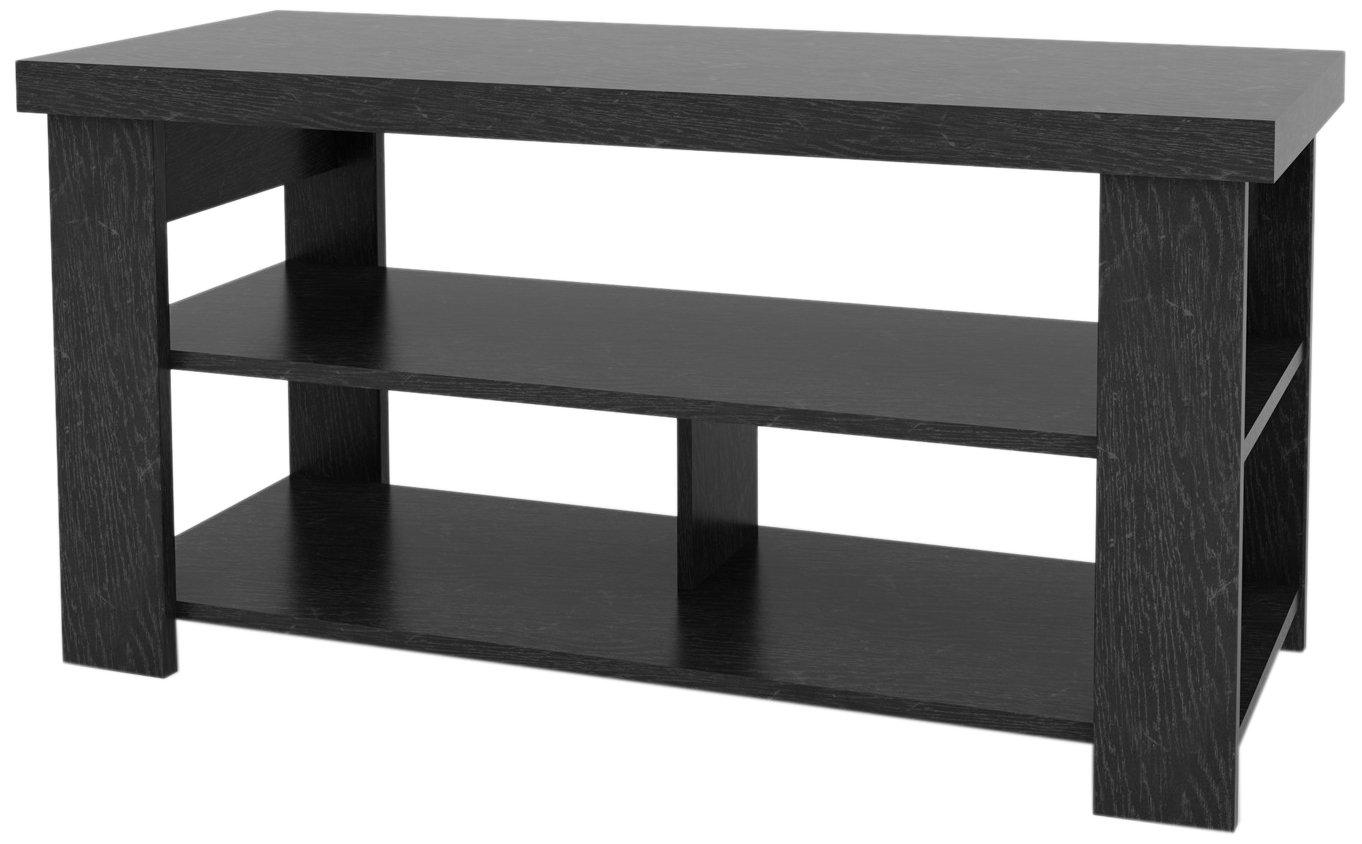 47'' Hollow Core TV Stand, Black Ebony Ash Finish