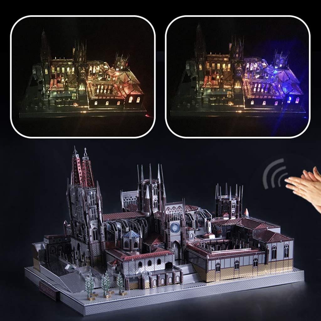 Homyl Juguete de Rompecabezas de Metal 3D Construcción Arquitectónica Ornamento de Hogar Oficina - Catedral de Burgos(229pcs,19x14x10cm): Amazon.es: ...
