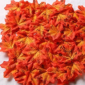 Gresorth Fake Maple Leaves Fall Wedding Flowers Artificial Autumn Leaf Party Decoration 49